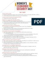 Women's Economic Security Act - Fact Sheet