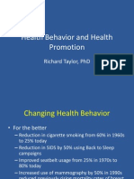 Health Behavior and Health Promotion (1)
