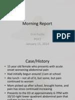 Kidney Stones in the Adolescent Patient
