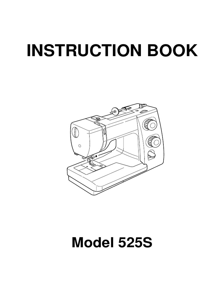 Janome Sewist 525S Sewing Machine Instruction Book 525S
