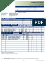 praxis score report