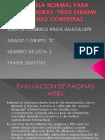 Evaluacion de Paginas Webs
