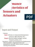Performance Characteristics of Sensors