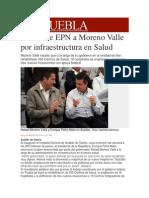 07-01-2014 Milenio.com - Reconoce EPN a Moreno Valle Por Infraestructura en Salud