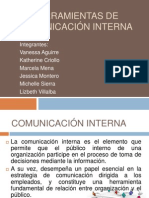 Herramientas de comunicación interna.