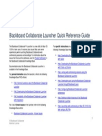 Blackboard Collaborate Launcher Quick Reference Guide