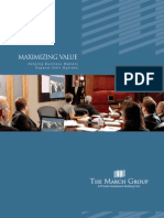 The March Group Corporate Brochure - Investment Banking and Consulting Services
