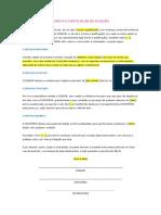 MODELO DE INSTRUMENTO PARTICULAR DE DOAÇÃO