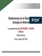 Gobernanza en el Sector de Energía en Bolivia