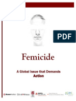 Femicide a Global Issue That Demands Action