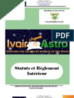 Statuts & Réglement Intérieur d'IVOIR'ASTRO