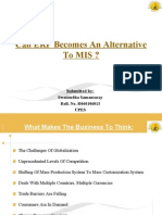 Can ERP Becomes an Alternatives to MIS