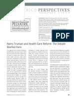 Schremmer Et Al. Harry Truman and Health Care Reform