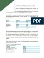Localización de refinerías en México y sus productos
