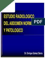 11.- Radiología del abdomen normal y patologico