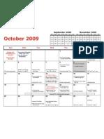 October Athletic Calendar