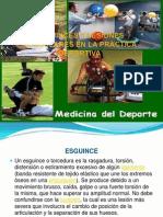 ESGUINCES Y LESIONES MUSCULARES EN LA PRACTICA DEP.ppt
