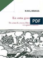 En esta gran época - Karl Kraus