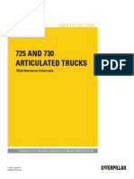 725 and 730 Articulated Trucks-Maintenance Intervals