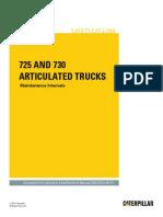 725 and 730 Articulated Trucks-Maintenance Intervals