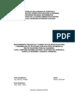 Informe Final Pasantía Emanuel Rivero CANTV UNEFA 2013