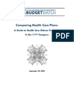 Comparing Health Care Plans a Guide to Health Care Reform Proposals in the 111th Congress