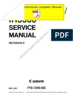CANON iR2200 iR2800 iR3300 Service Manual Pages