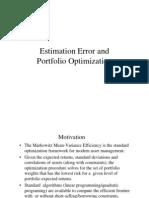 Estimation Error and Port Optimization