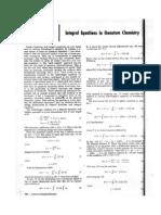 Integral Equation in Quantum Chemistry