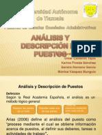 ANÁLISIS Y DESCRIPCIÓN DE PUESTOS EXPO