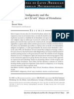Metz - Questions of Indigeneity in Honduras