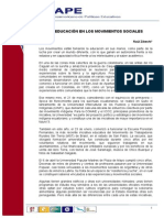 Raúl Zibechi-La educación en los movimientos sociales