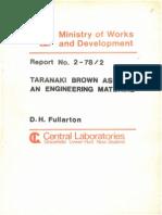 Taranaki Brown Ash as an Engineering Material