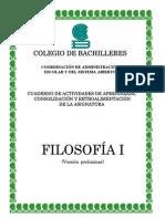 cuaderno de actividades Filosofía 1