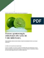 Potente Quimioterapia Limonada Sin Azucar y Bicarbonato.