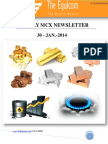 MCX News letter by TheEquicom 30-jan-14