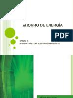 AHORRO DE ENERGÍA, UNIDAD 1