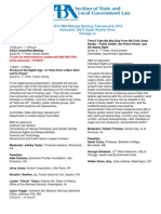 ABA State and Local Govt Law Section Midyear 2014 Agenda (Chicago)