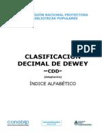 Clasificacion Decimal de Dewey Cdd