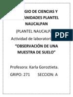 Colegio de Ciencias y Humanidades Plantel Naucalpan Suelo