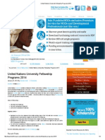 United Nations University Fellowship Programs 2014