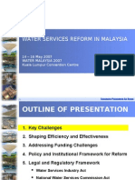 Water Services Reform in Malaysia
