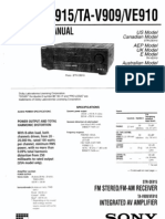 STR-DE915 AVR Sony Receiver