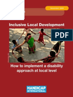 Inclusive Local Development How to Implement a Disability Approach at Local Level
