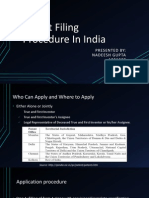 Patent Filling Procedure in India