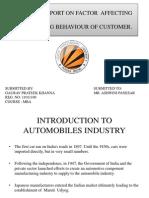 Presentation on Factor Affecting Car Buying Behaviour