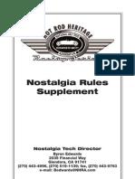 Nostalgia Drag Racing Rules 2009