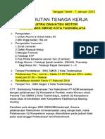 Info Loker 2014 Bkk Smkn 2 Tasik