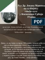 Rad Dr.Jovana Masina na suzbijanju govedje kuge u Knezevini Srbiji 19.veka