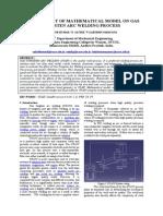 Experimental study of gas tungstun arc welding process paramenets